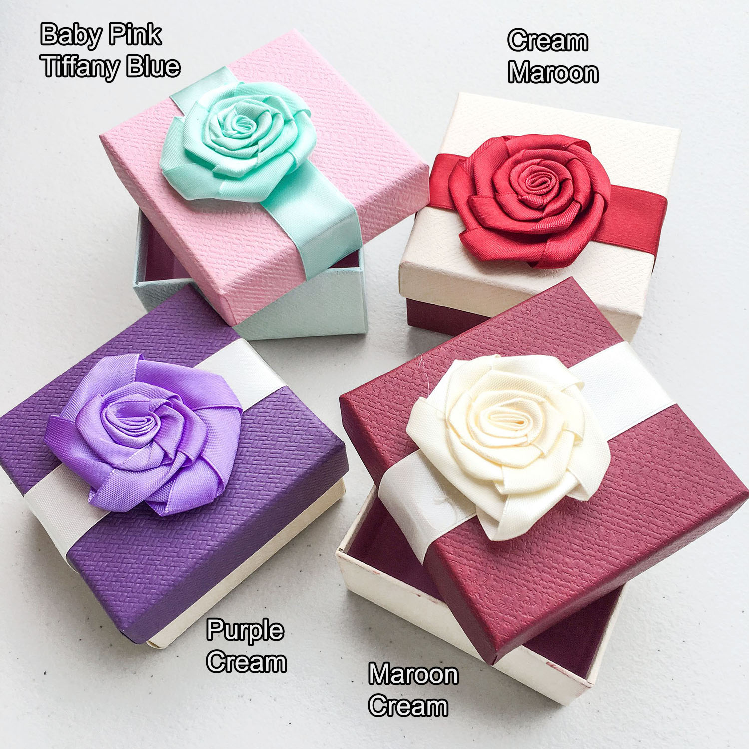 Gift Box Square with Rose