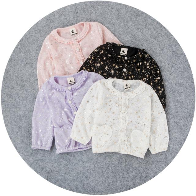 d1e388e25 GOLD STARS Cardigan Outer Outwear Girls Baby Infant Toddler Kids ...