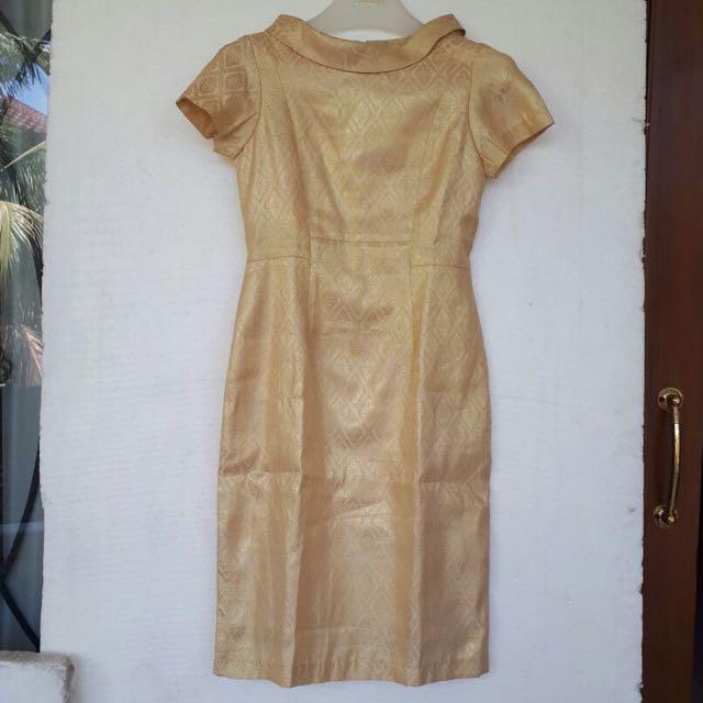 Gold Tenun Dress Size M