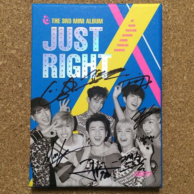 GOT7 Just Right Promotional Signed Album