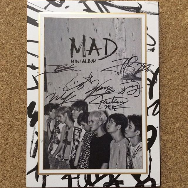 GOT7 Mad Vertical Ver Promotional Signed Album