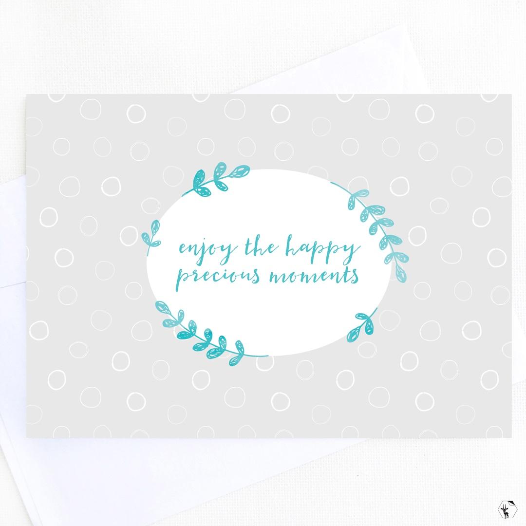 Happy Precious Moments Greeting Card