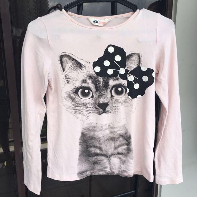 H&M Cat Long sleeves