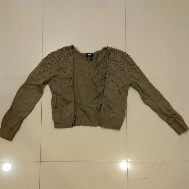 H&M Studded Cardigan Sz Xs