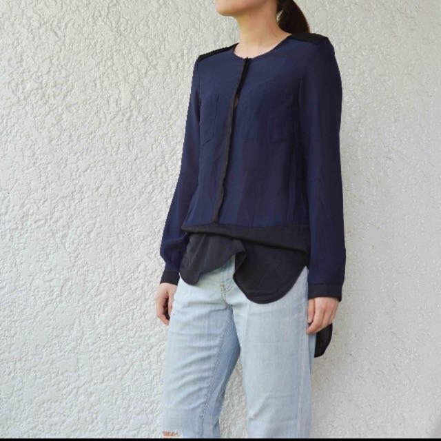 H&M Two tone Blouse