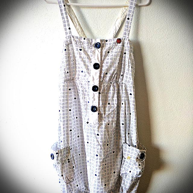 Insight White Poker Bell Bubble Style Cross Back Strap Dress