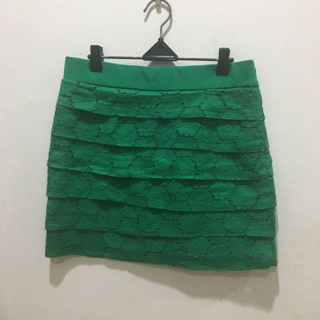 Jill Green Brokat Skirt