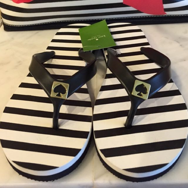 Kate Spade Flip Flops -size 10