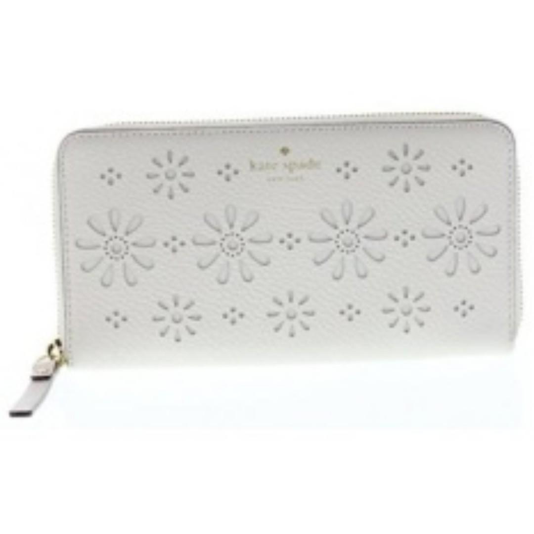 Kate Spade White Long Wallet