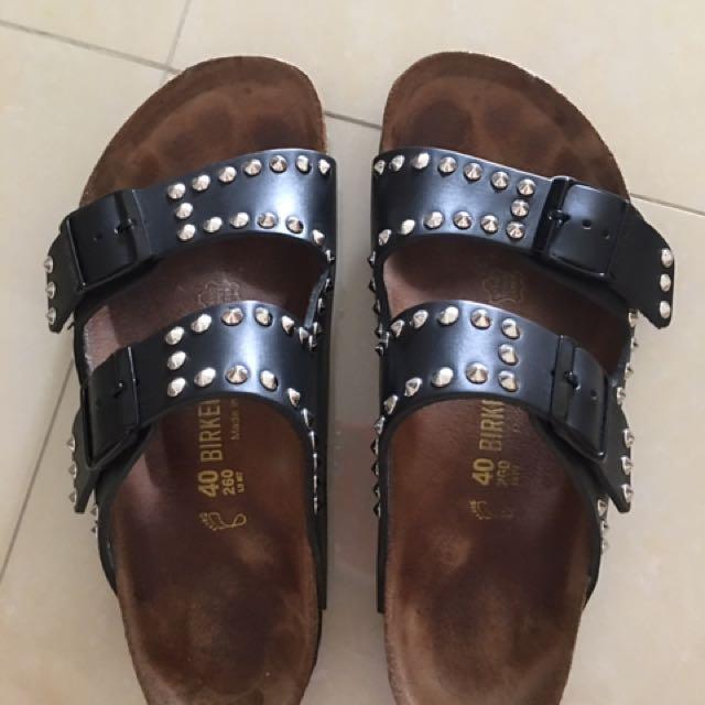 f484e7d99678 Lightly Used Birkenstock Arizona Studded Leather Sandal