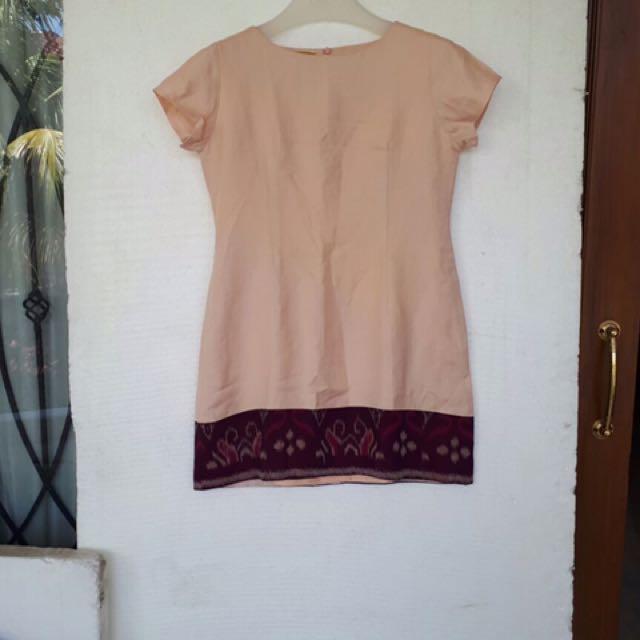 Linen Tenun Dress Size M