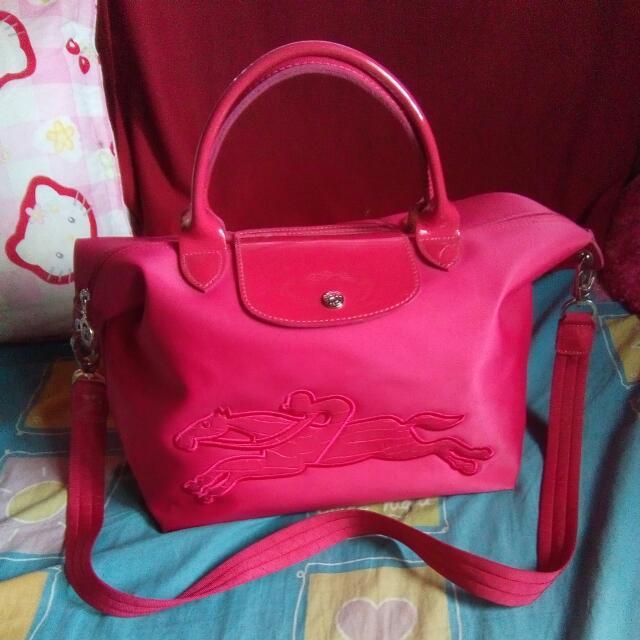 Orig Longchamp Convertible Bag Medium Euc
