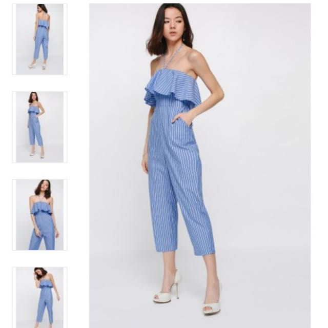 (NEW) Love, Bonito - Jenay Striped Jumpsuit (STILL WITH TAG)