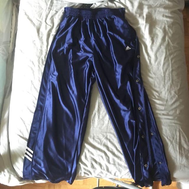 Medium Adidas Navy Blue Tear-away Sweats