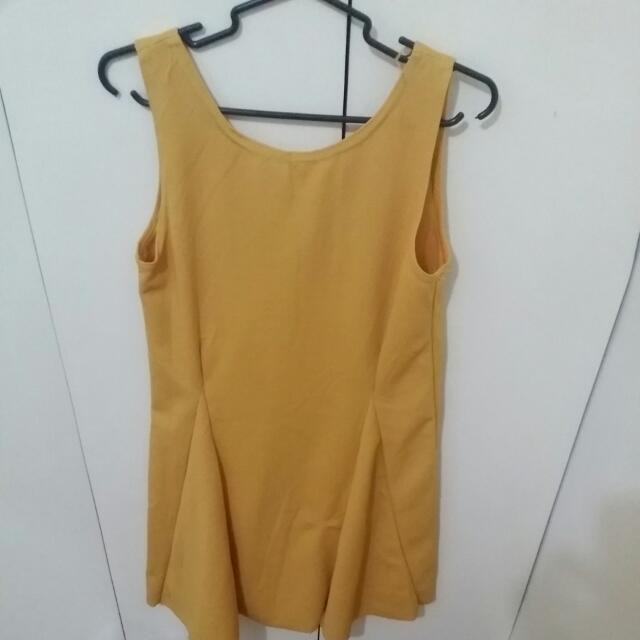 Mini Mustard Dress
