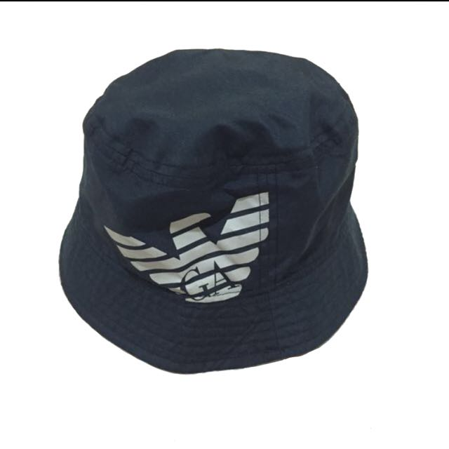 87bc1769 Navy Bucket Hat Armani Junior by Giorgio Armani (Original-Authentic),  Babies & Kids, Boys' Apparel on Carousell