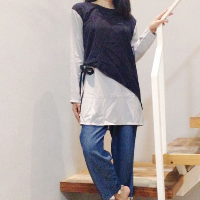[NEW] Two Tone Blouse
