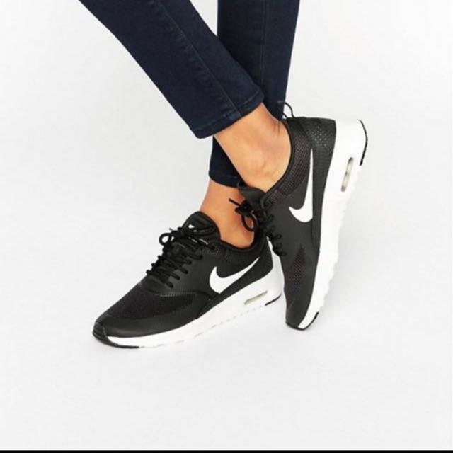 FashionShoes Air Thea On Nike Max TrainerswomenWomen's Black htsrCxQd