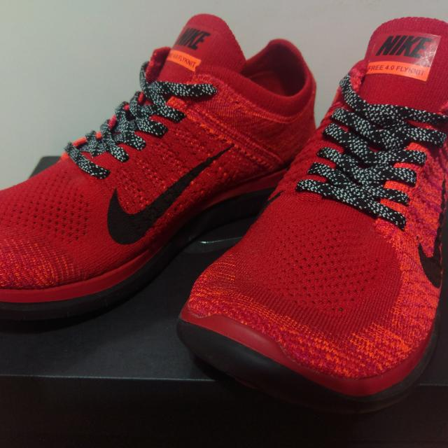 large discount purchase cheap multiple colors Nike Free 4.0 Flyknit (Crimson Red), Men's Fashion, Footwear ...