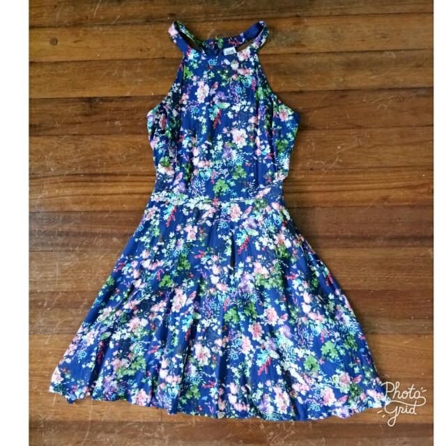 NITA BLUE FLORAL DRESS
