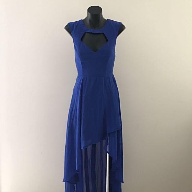 No Brand Dress - Royal Blue Asymmetrical