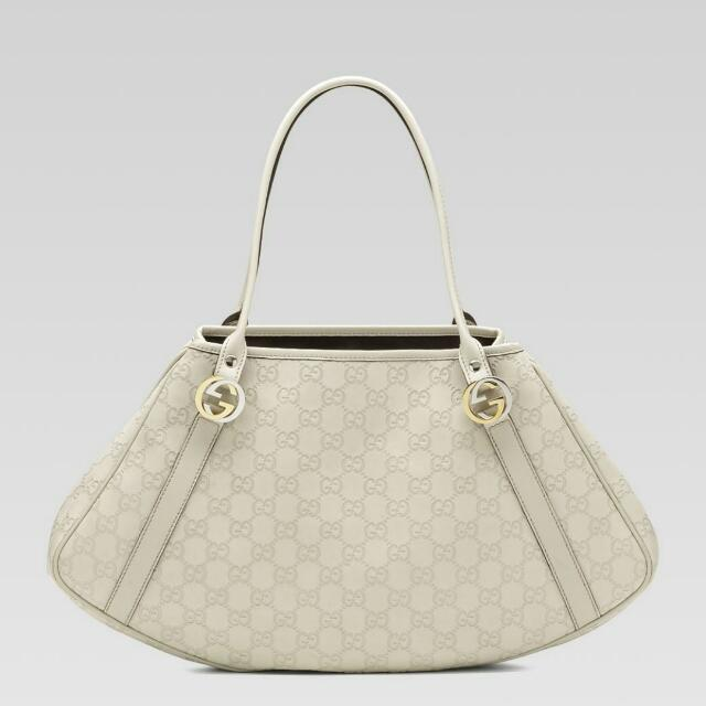 988c7583b30 Authentic Gucci off-white guccissima leather, Luxury, Bags & Wallets ...