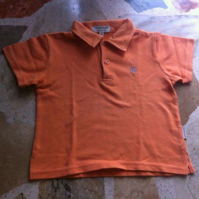 Orange Baby Guess Polo Shirt