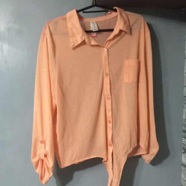 Orange Polo Top