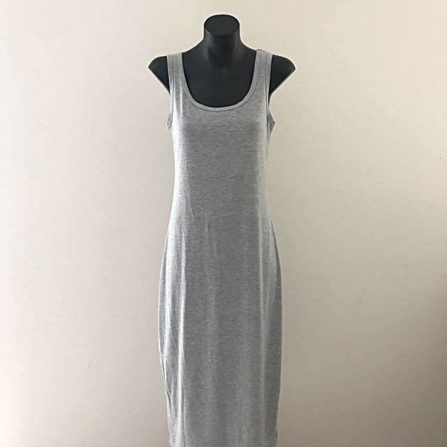 Paper Scissors Maxi Dress - Grey Bodycon