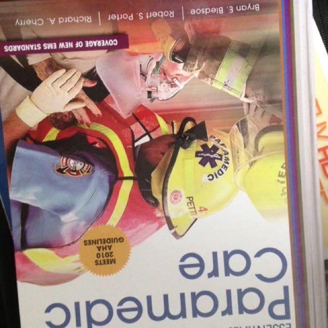 Paramedic Care Text Book
