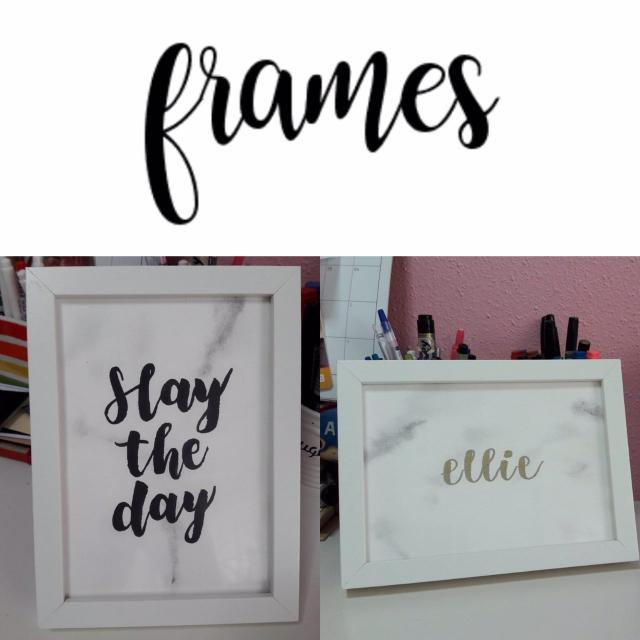 Personalised Photo Frame Frames Marbled Marble Background ...