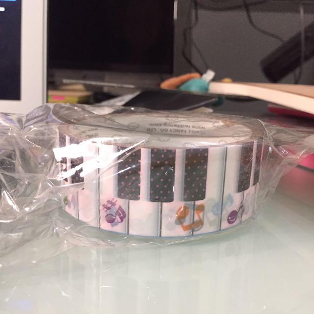 Piano washi tape