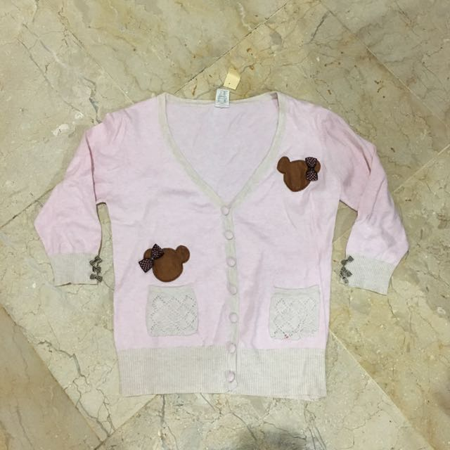 Pink Teddy Cardigan