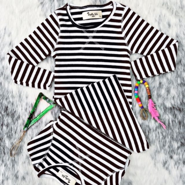 RARITY Stripe Dress By Royalty Kids Apparel
