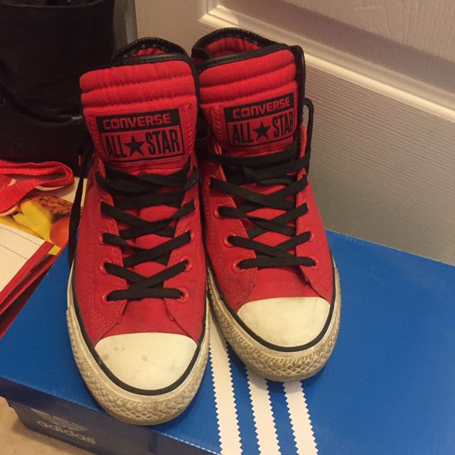 Red Hightop Converse