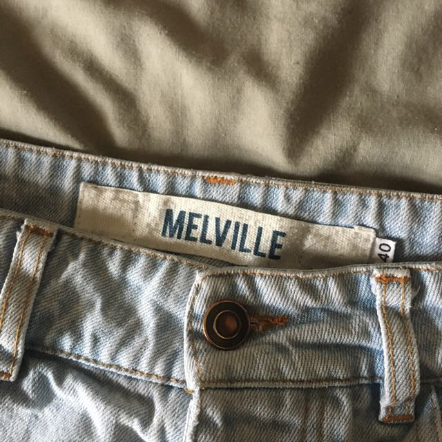 Ripped Light wash Brandy Melville Mid-waist Jeans