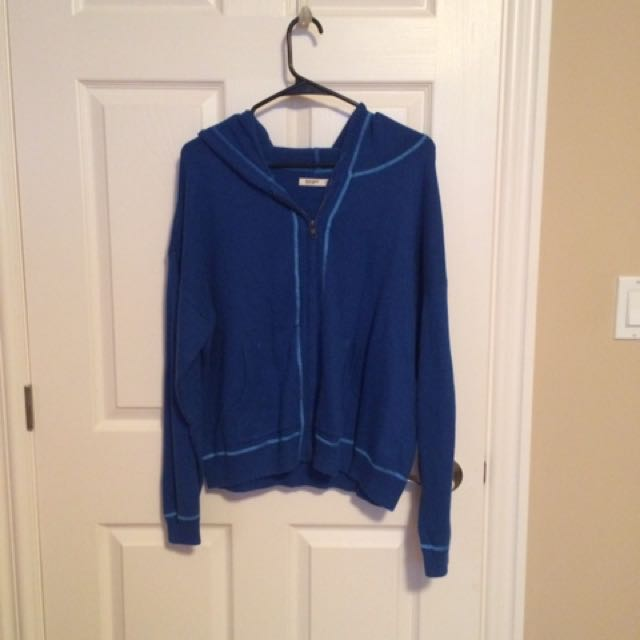 Royal Blue Knitted Zip Up Sweater Old Navy