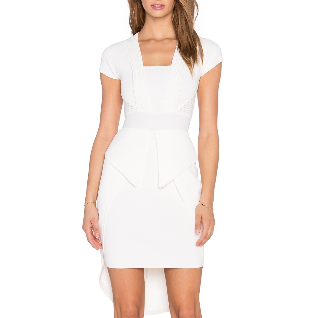 Sass & Bide - My Truces Milano Knit Fitted Dress - White - Size 8 - Small - BNWT - RRP $390