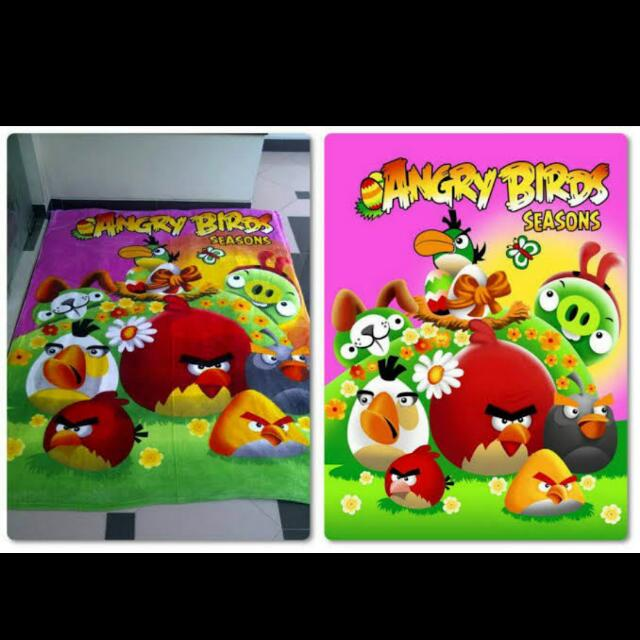 selimut angry bird 160*200