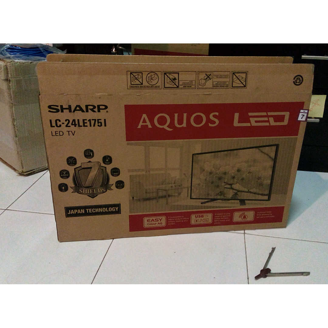 """SHARP LC-24LE175I LED TV 24"""", Electronics, TVs & Entertainment Systems on Carousell"""
