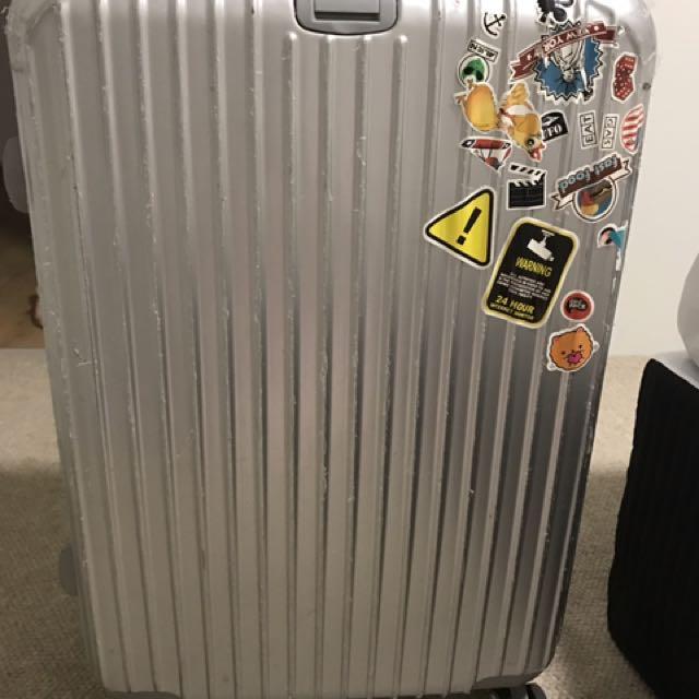 Silver color  28 inch luggage