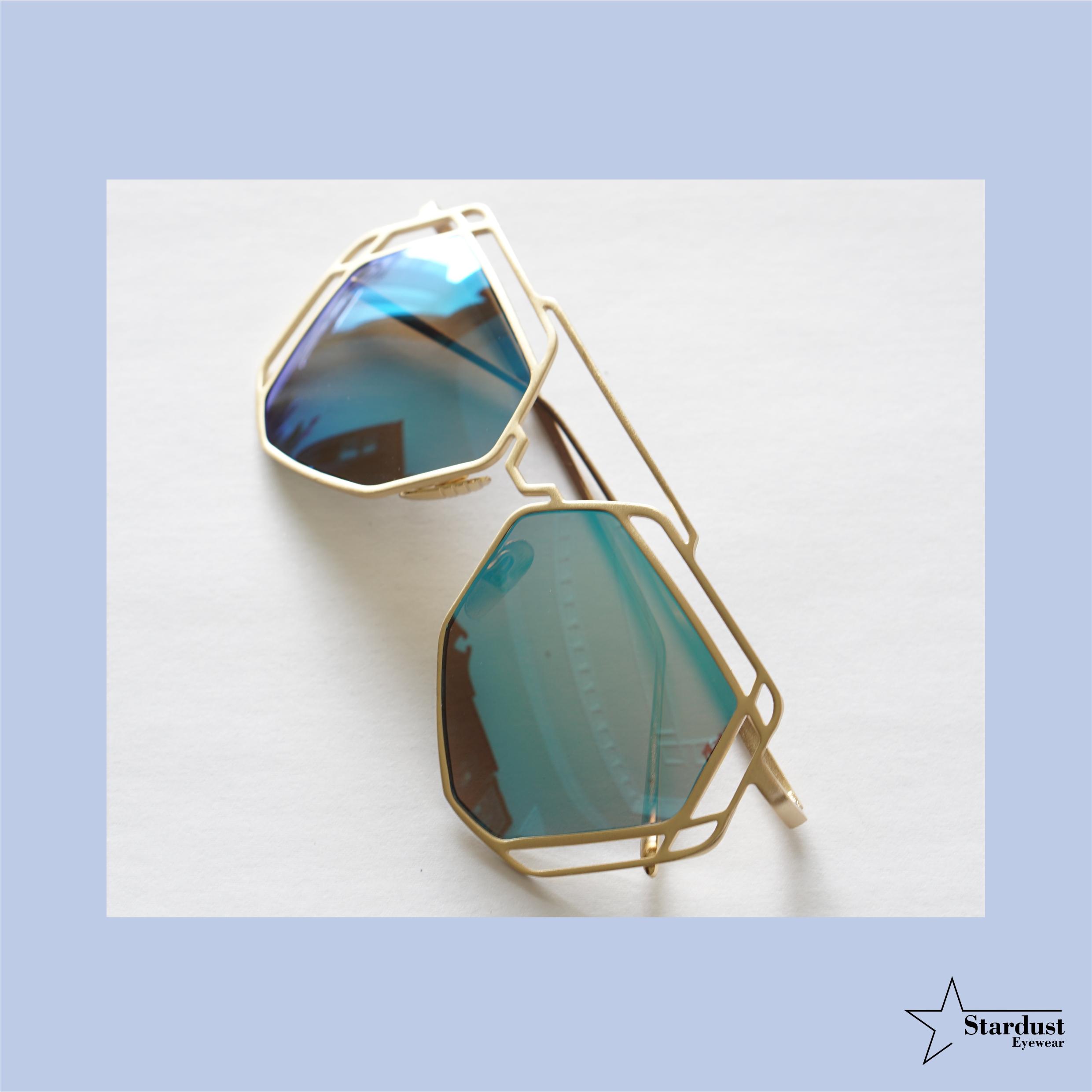 Starry Gold Blue Kacamata Fashion ( Sunglasses )