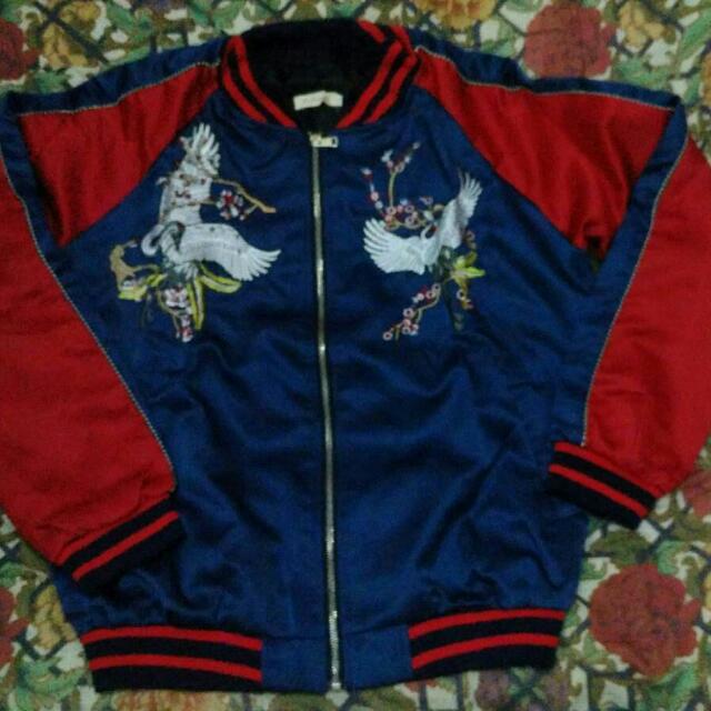 SUKAJAN jacket CRANE & SAKURA