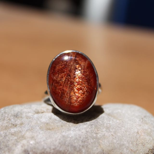 Sunstone Sterling Silver .925 Ring Size 7