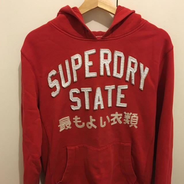 Superdry Red Hoodie Jumper