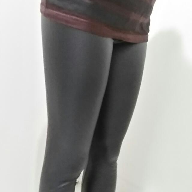 Jayjays Black Leather-looking Leggings