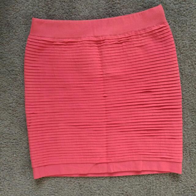 Temt Red Pencil Skirt Size M