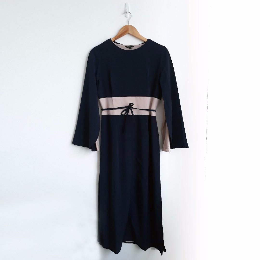 The Executive Long Cape Dress