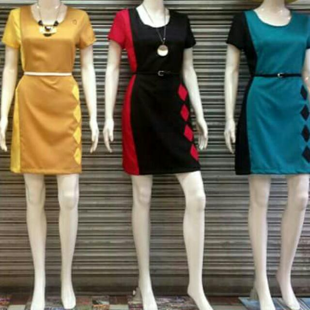 Two-tone Office Dress