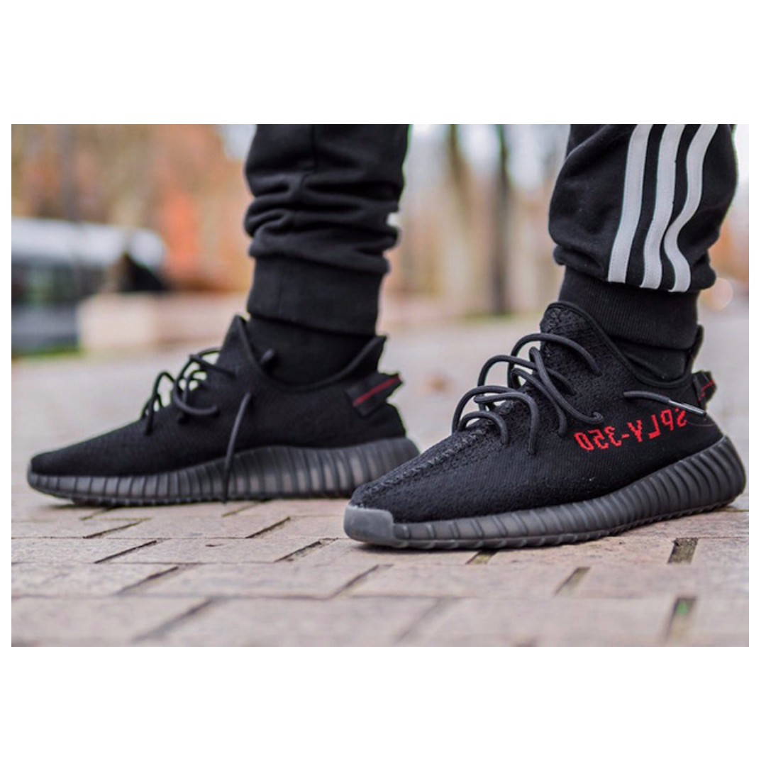 ed8827409 ADIDAS Yeezy Boost 350 v2 - BRED BLACK RED - Sneaker Shoe